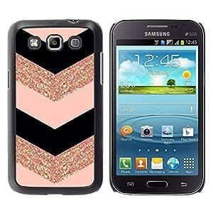 TopCaseStore / la caja del caucho duro de la cubierta de protección de la piel - Fashion Glitter Gold Pattern - Samsung Galaxy Win I8550 I8552 Grand Quattro