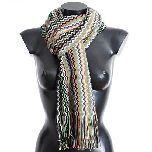 Missoni Multicolor zig zag pattern wool scarf