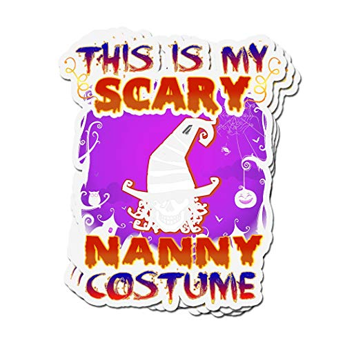 ViralTee 3 PCs Stickers This is My Scary Nanny Costume Halloween 4 × 3 Inch Die-Cut Decals