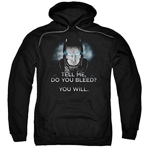 Trevco Men's Batman Vs. Superman Do You Bleed Hoodie Sweatshirt at Gotham City Store