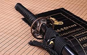 Handmade Katana Japanese Samurai Sword Katana Real Clay Tempered Hamon Razor Sharp Full Tang Blade Real Cut