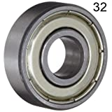 BC Precision 32BC608ZZ Thirty-Two (32) 608ZZ 8x22x7 Shielded Greased Miniature Ball Bearings