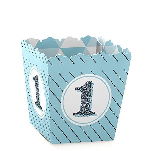 1st Birthday Boy - Fun to be One - Party Goodie Favor Boxes - Birthday Party Treat Candy Boxes - Set of 12 (1st Birthday Favor)
