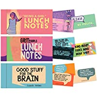Lunch Notes Set for Girls from Papersalt - 60 Inspirational Lunchbox Notes
