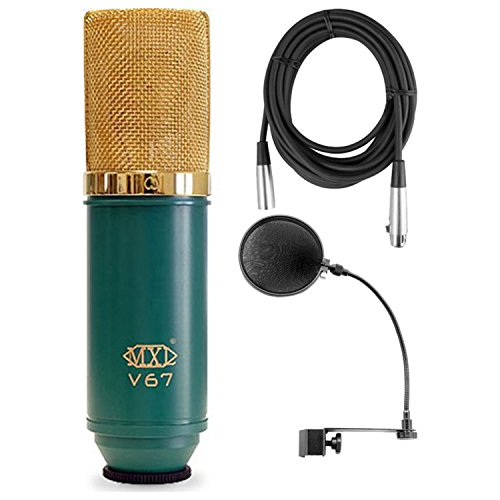 MXL V67G Large Diaphram Condensor w/ Mic Cable and Pop Filter