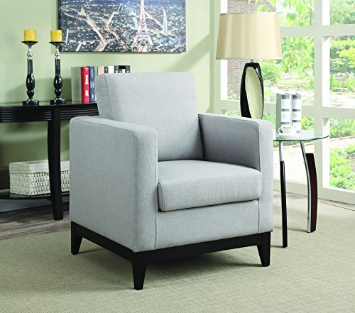 Coaster Home Furnishings 902608 Accent Chair, Light Grey Review