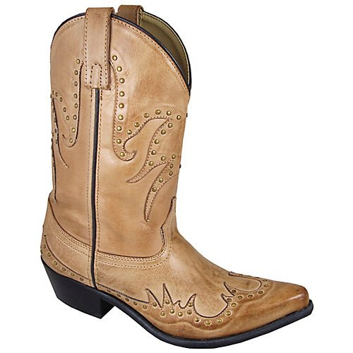 (Smoky Mountain Boots 3119 - Roane-Brown/Black Western with Wing TIP)
