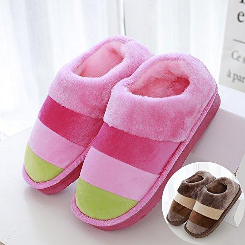 Assorbimento Inverno Laxba Degli Morbido Da Per 42 Letto 43 Urti Permeabili È Brown Pantofole Interne Donne Gli Uomini Di Aumentato 5xngn