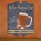 "Creative Structures Personalized 15.5"" Collectible Vintage Series - Tavern Beer Mug - Man Cave, Bar, Lounge Pub Sign - Chalkboard Like Background"