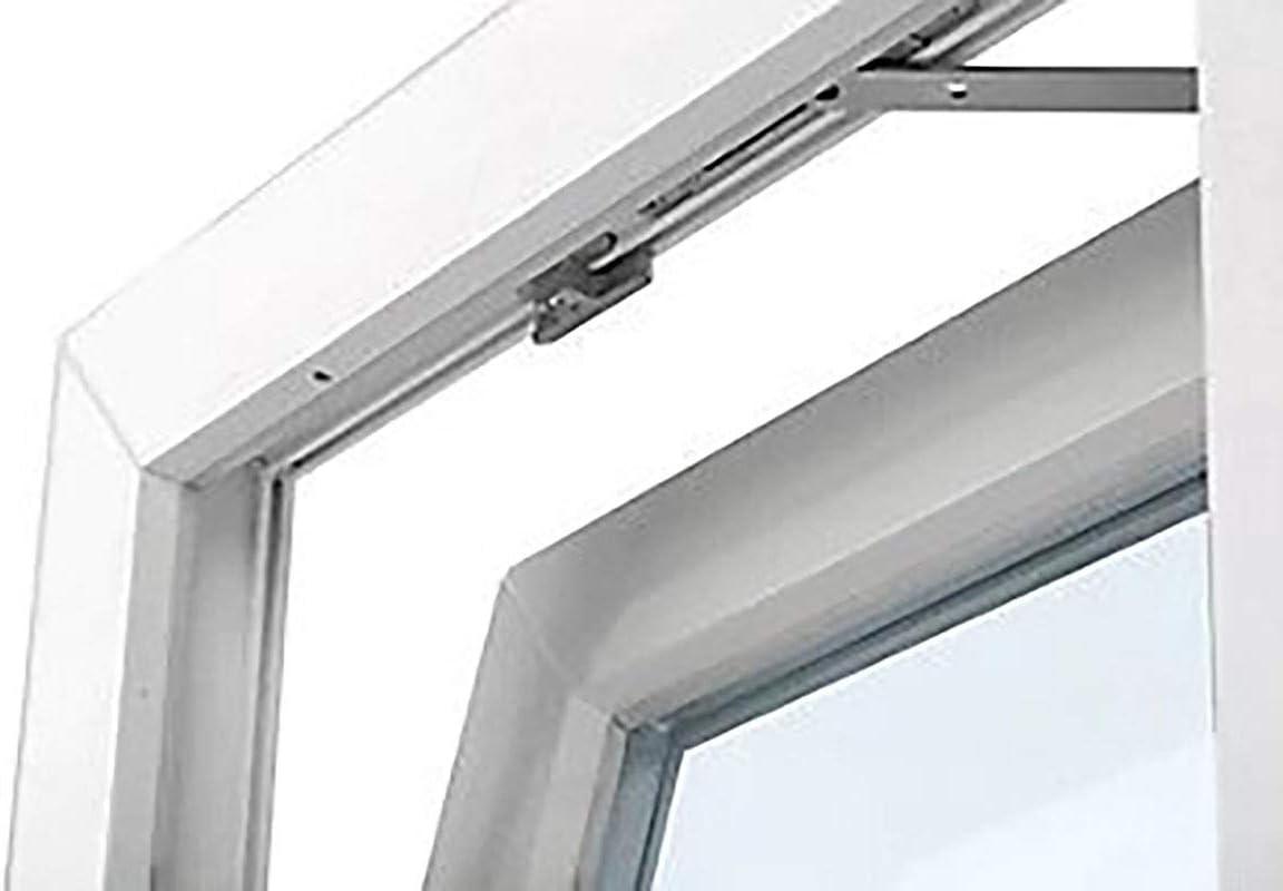 Resistente al sol Alto aislamiento termico y acustico Vidrio Opaco Ventana PVC 50 cm x 50 cm Perfecto Para Ventilacion TermProtect Golpete Solo basculante