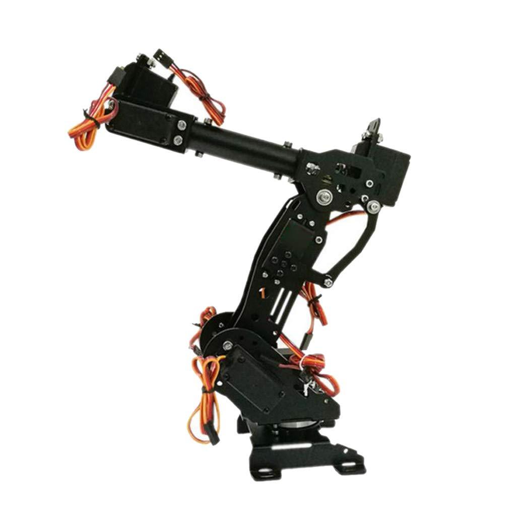 FLAMEER Set Staffa Braccio Meccanico Robot Pinza Servo WiFi Gripper Claw - Nero   1