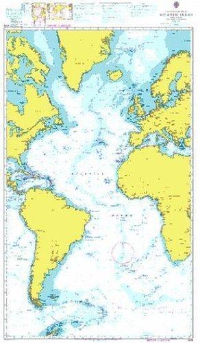 Ba Diagramm 4015  A Planung Diagramm für die Atlantic Ocean von UNITED KINGDOM Hydrographic Büro