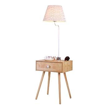 Attraktiv Home Mall  Holz Stehlampe | Moderne Minimalistische Stil Stehlampe Mit  Tisch | Für Wohnzimmer Schlafzimmer