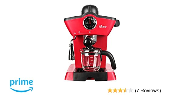 Oster BVSTEM4188 Red Steam Espresso Cappuccino Maker (Not in USA), 220V, Red