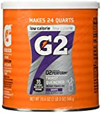 Gatorade Perform G2 02 Perform Thirst Quencher Instant Powder Grape Drink 19.4 Oz. (1 Each)