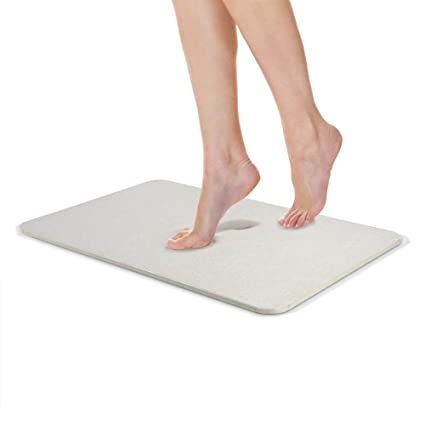 MOBIE Extra Long Non Slip Absorbent Diatomite Bath Mats & Rugs Mold & Mildew Resistant, Easy To Clean Hard Duckboard