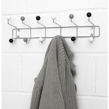 Coat Hooks Hanger Multiple Coat Hook Large - Atomic Black White Grey