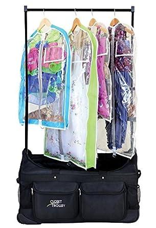 Amazon Com Closet Trolley Dance Bag With Garment Rack