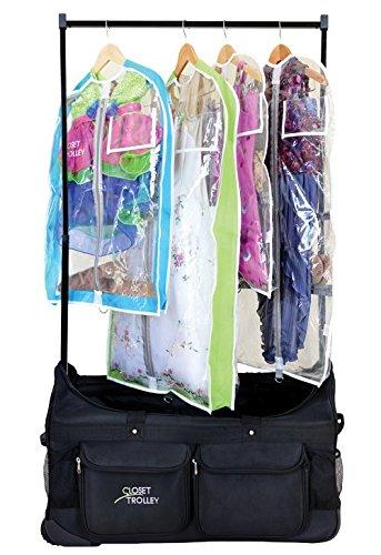 Closet Trolley Dance Bag With Garment Rack Black Dance