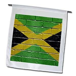 3dRose fl _ 156913_ 1bandera nacional de Jamaica pintado en una pared de ladrillo Jamaica bandera de Jardín, 12por 45,72cm