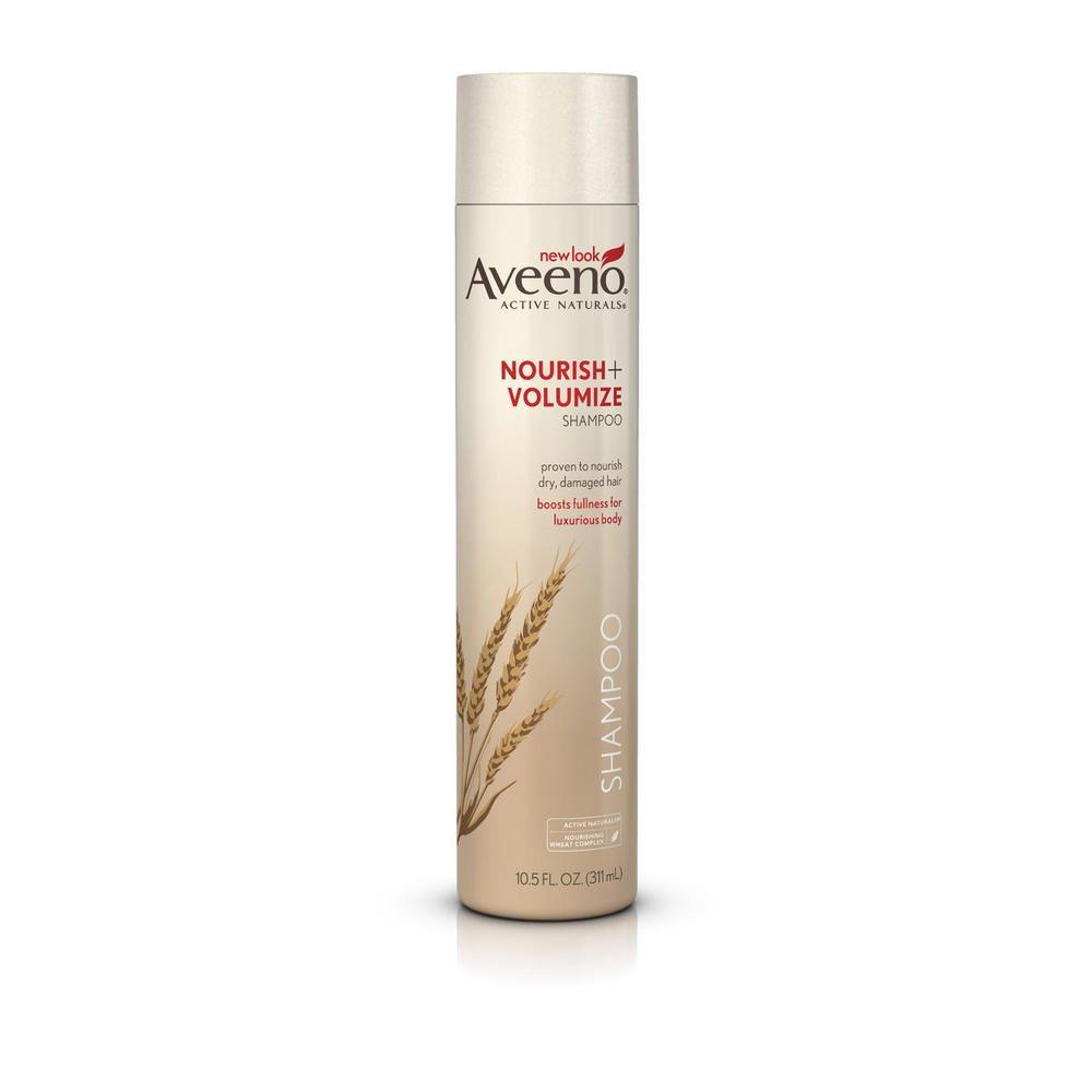 Aveeno Nourish+ Volumize Shampoo, 10.5-Ounce Bottles (Pack of 3)