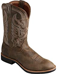 Twisted X MenS Top Hand Boot, Color Bomber/Bomber (Mth0016)