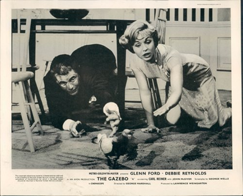 THE GAZEBO GLENN FORD DEBBIE REYNOLDS LOBBY CARD
