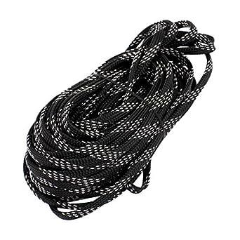 eDealMax DE 6 mm D apretado trenzado PET Funda extensible del Cable del Abrigo de cubierta