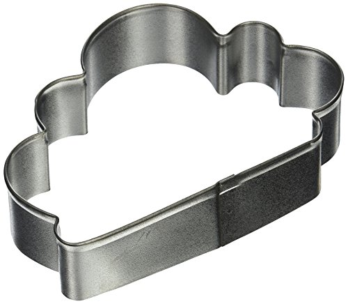 R & M Cloud Tinplated Cookie Cutter 4-Inch, Silver