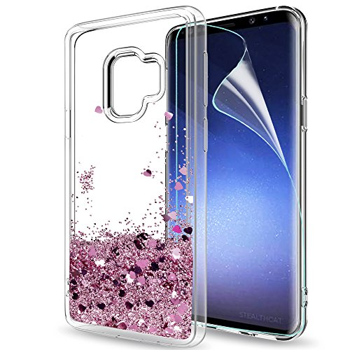 Samsung Galaxy S9 Glitter Case with HD Screen...