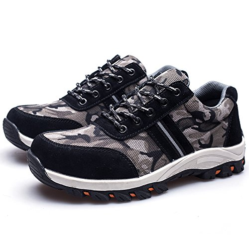 Construction Safety Camo Sport and Industrial Black Steel LAN Men's Toe Shoes Protective YING Work qZpvBx