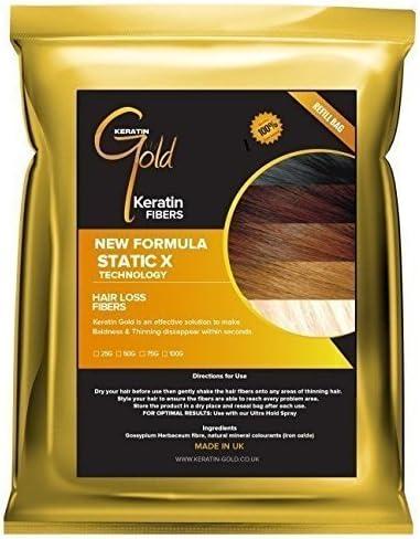 Keratin GoldTM espesante Fibra capilar/fibra recarga (pérdida de ...