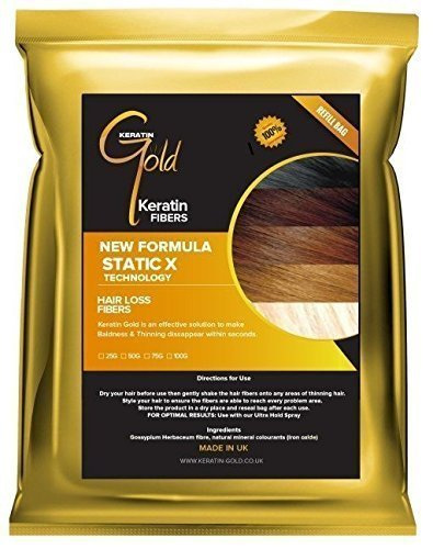 Keratin GoldTM espesante Fibra capilar/fibra recarga (pérdida de cabello & Entresacar Solution)