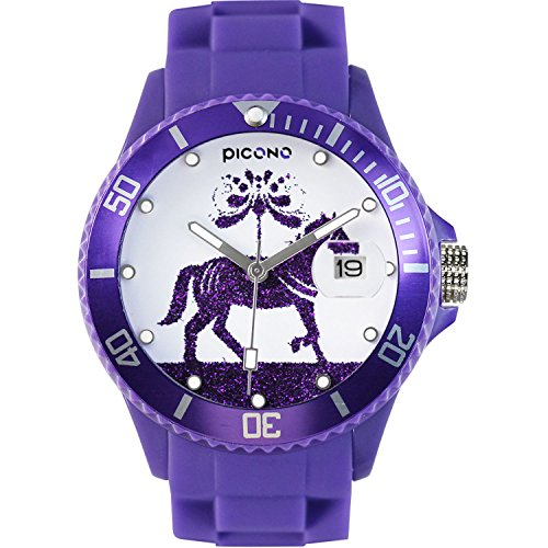 PICONO Purple Juggler Time and Date Water Resistant Analog Quartz Watch - Horse by PICONO