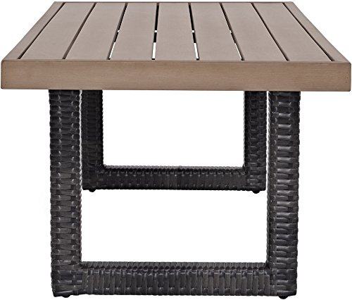 Crosley Furniture CO7225-BR Beaufort Outdoor Wicker Coffee Table, Brown