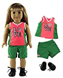 HongShun 1 Set Fashion Basketball Clothes Outfit for 18'American Girl Doll
