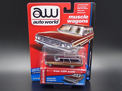 Squire Country Ltd Ford (AUTO WORLD 1964 FORD COUNTRY SQUIRE LIMITED EDITION 2018 REL 1 VER B 1/2500)