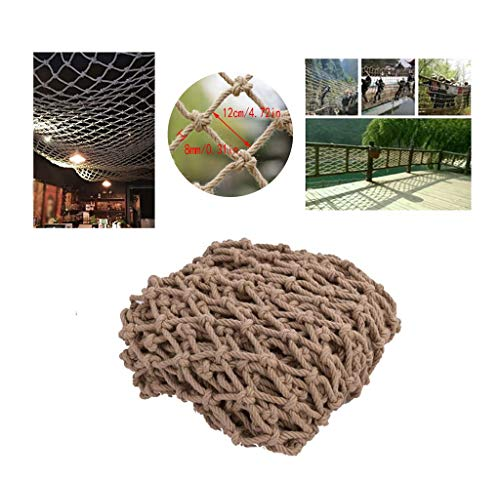 Safety Outdoor Railing Net Child Safety Net Stairs Balcony Anti-Fall Nets Protective Nets Hemp Ropes Decorative Nets Restaurant Bar Ceiling Nets Climbing Nets Hanging Clothes Nets (Size : 10x1m)