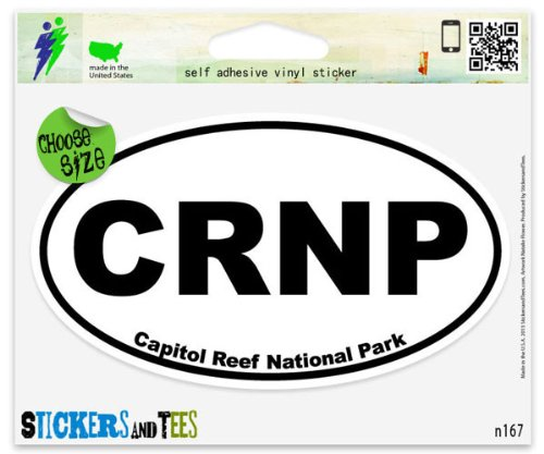 Capitol Reef National Park Oval Car Sticker Indoor Outdoor 5