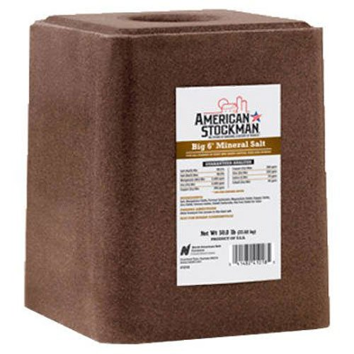 North American Salt 41018 Big 6 Trace Silver Mineral Pet Supplement, 50-Pound