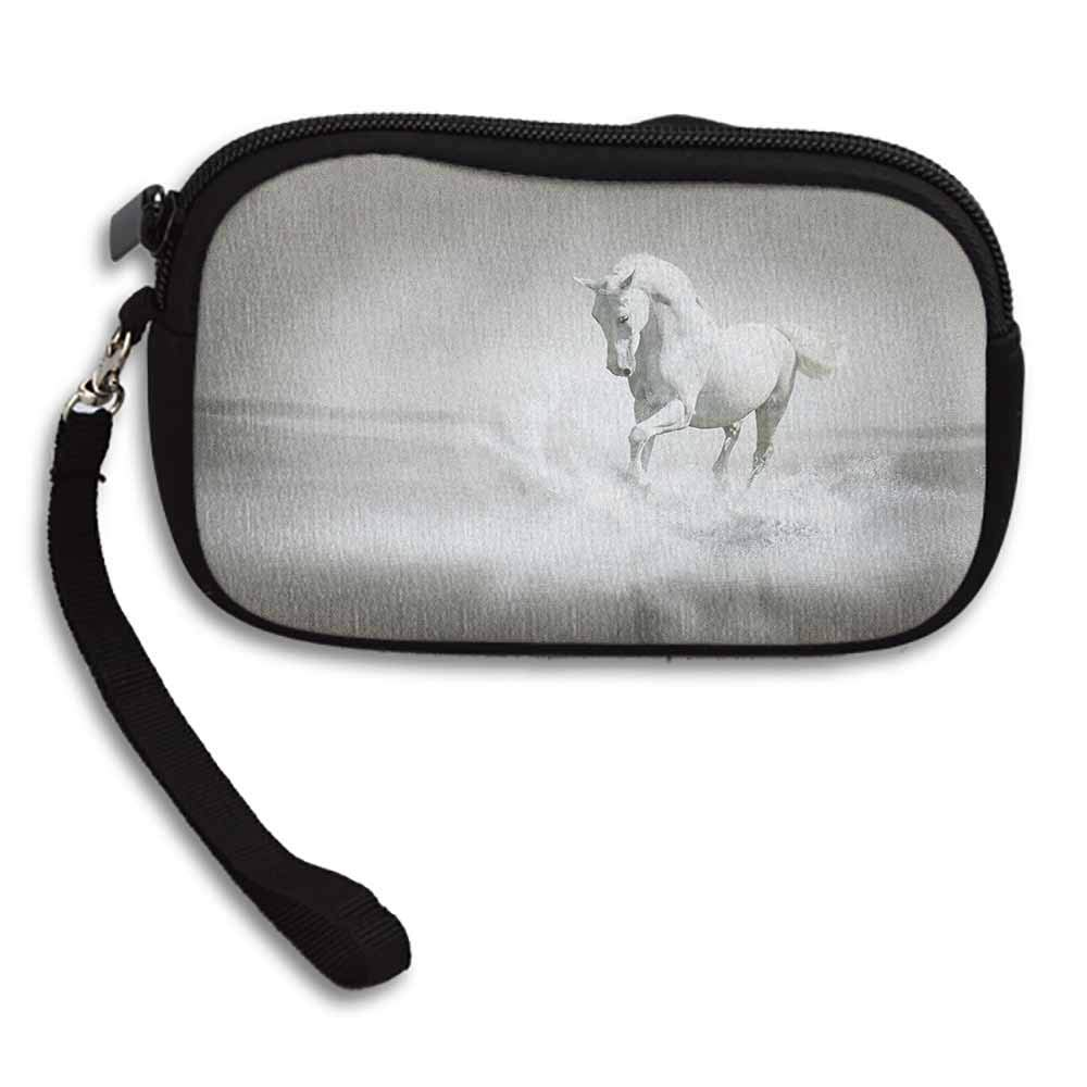 Horses Change Purse Wild Horse Running through Water Dramatic Symbol for the Motivation of Life Art W 5.9x L 3.7 Pattern Wallet Exquisite Gift