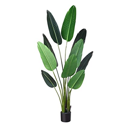 Amazon Com Cozybox Artificial Tropical Palm Tree Fake Plant For