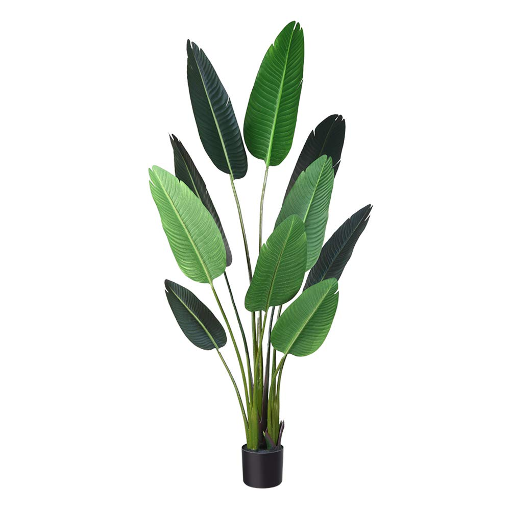 CozyBox Artificial Tropical Palm Tree Fake Plant for Indoor Outdoor, Perfect Faux Plants for Home Garden Office Store Decoration, 5 Feet