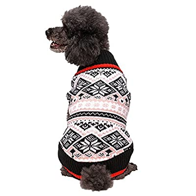 Blueberry Pet 5 Patterns Nordic Fair Isle Snowflake Dog Sweater or Unisex Sweater by Blueberry Pet
