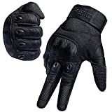 FREETOO Tactical Gloves Military Rubber Hard Knuckle Outdoor Gloves for Men Fit for Cycling Motorcycle Hiking Camping Powersports Airsoft Paintball