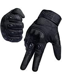 FREETOO Tactical Gloves Military Rubber Hard Knuckle...