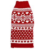 Tangpan Classic Red Snow Pet Turtleneck Dog Sweater Puppy Kitten Cats Apparel Clothes Size XS