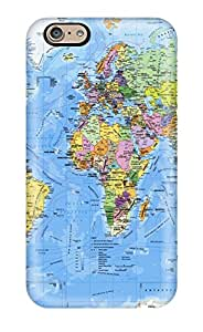 Hot Snap-on Pr94055worldmap Hard Covers Cases/ Protective Cases For Iphone 6