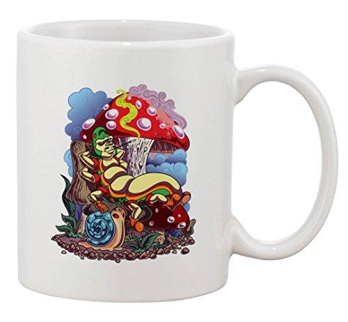 Ceramic Coffee Mug - Smoking Caterpillar w/Pet Snail & - Mug Caterpillar