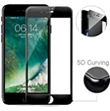 MARKET AFFAIRS 5D Curved Edge 9H Hardness Tempered Glass Protector for Apple iPhone 6/6S(Black)